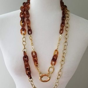 Jewelry - Two necklaces in One - Modern Acrylic and gold
